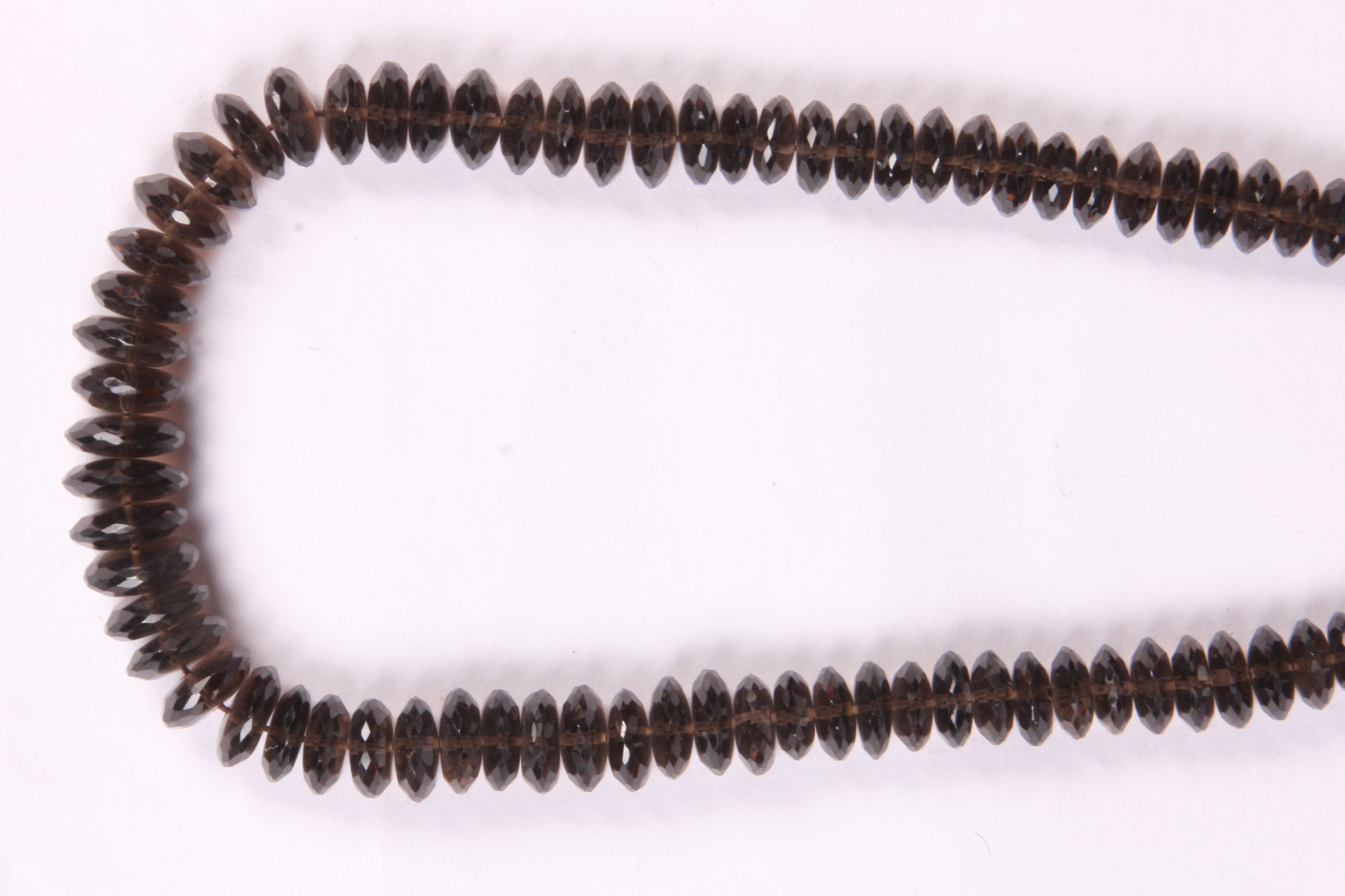 Smoky Quartz German Cut Beads