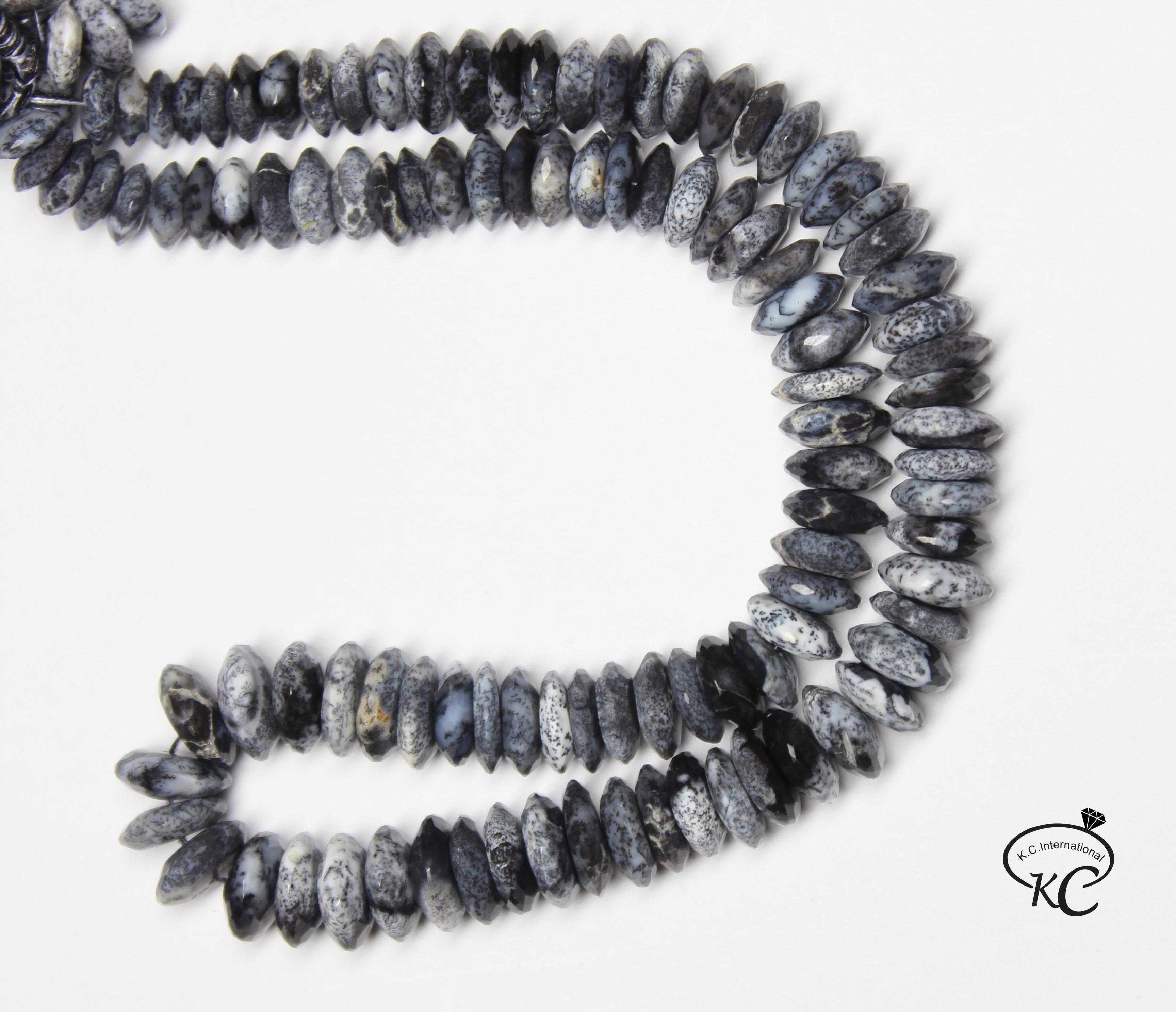 Dendrite Opal German Cut Beads