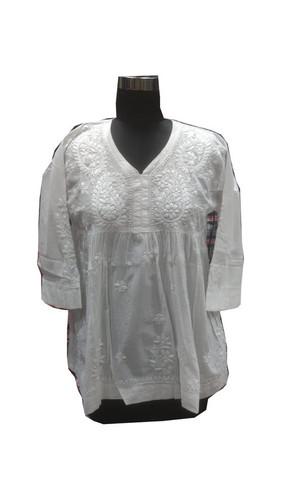 Ladies Cotton Handmade Lucknowi Kurti