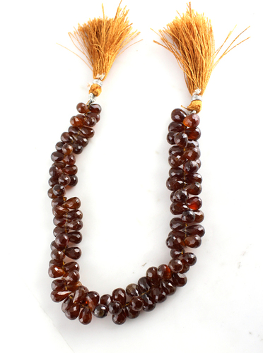 Hessonite Garnet Tear drops Beads