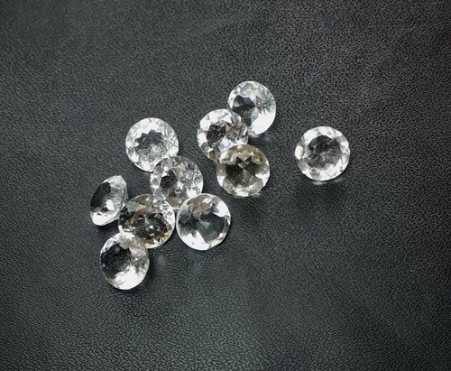 5mm Natural White Crystal Quartz Faceted Round Gemstone