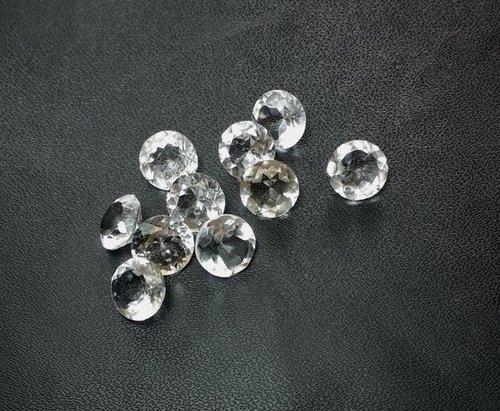 5mm Natural White Crystal Quartz Faceted Round Gemstone