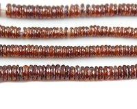Hessonite Garnet Plain Tyre Beads