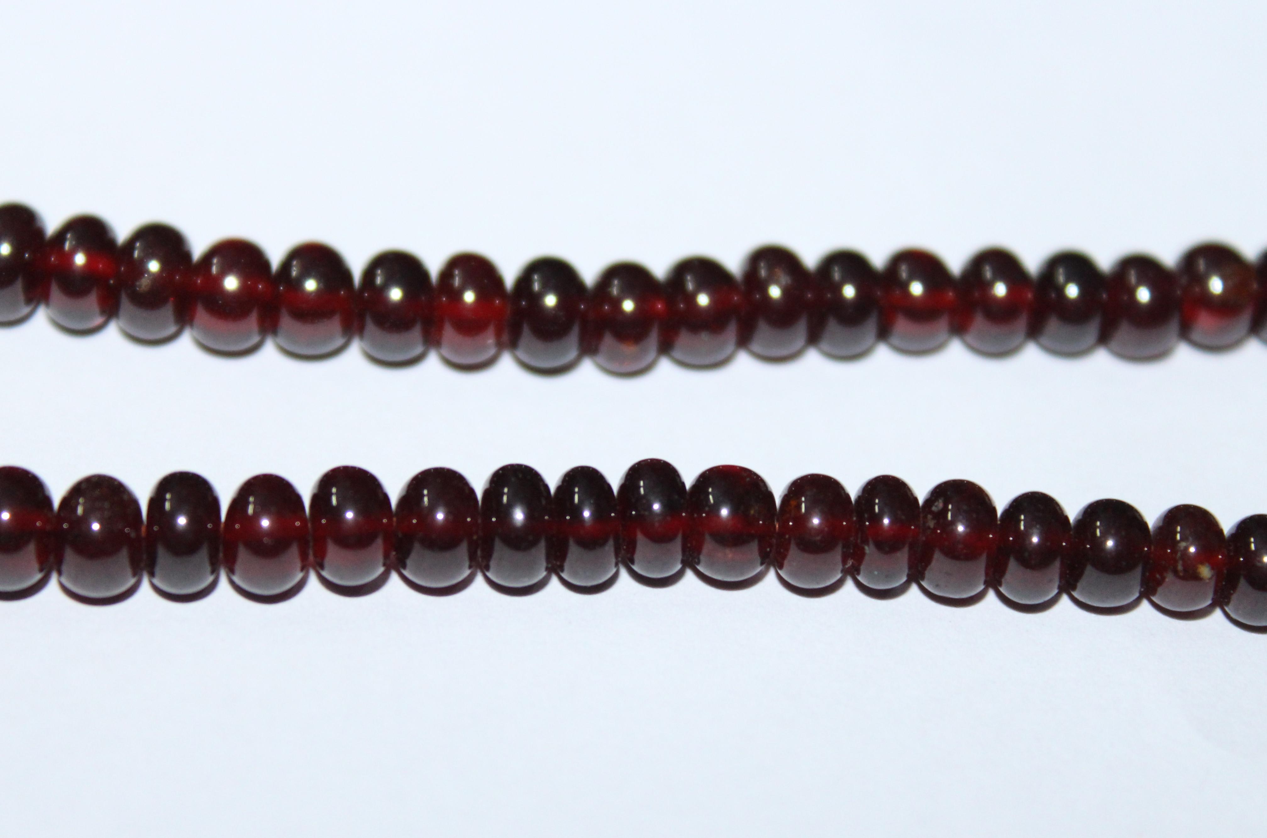 Hessonite Garnet Roundel Beads