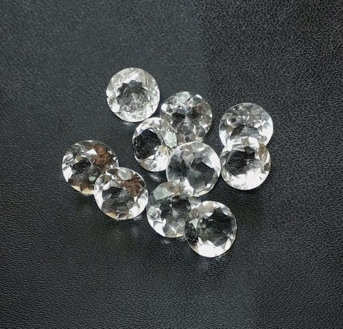 6mm Natural White Crystal Quartz Faceted Round Gemstone