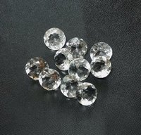 6mm Natural White Crystal Quartz Faceted Round Gemstone