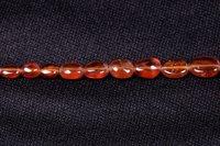 Hessonite Garnet Oval Beads