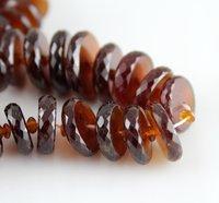 Hessonite Garnet Tyre Beads