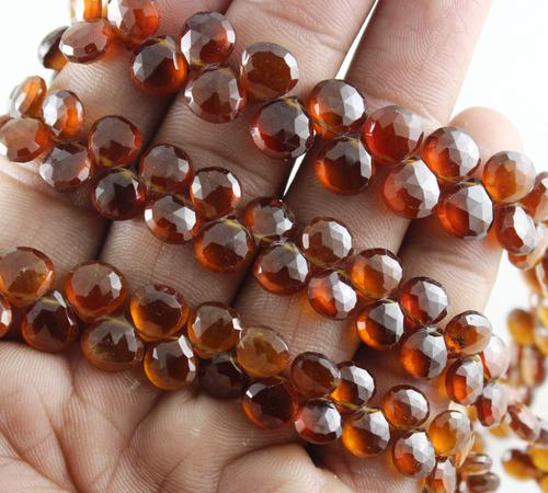 Hessonite Garnet Faceted Beads