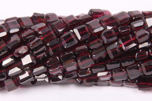 Garnet Square Beads