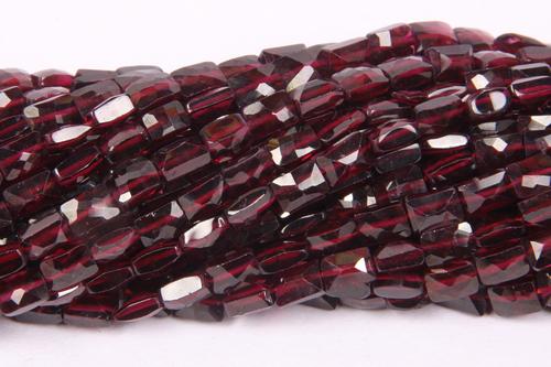 Garnet Double Cut Beads