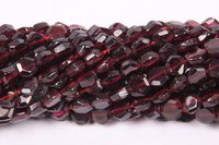 Garnet Hexagoan Beads
