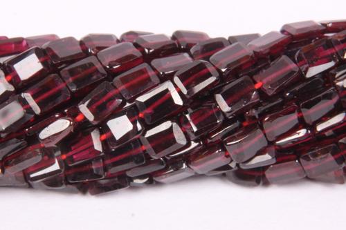 Garnet Rectangle Beads