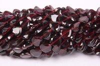 Garnet Heart Beads