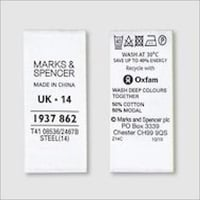 Cotton Fabric Labels For Garment Industry