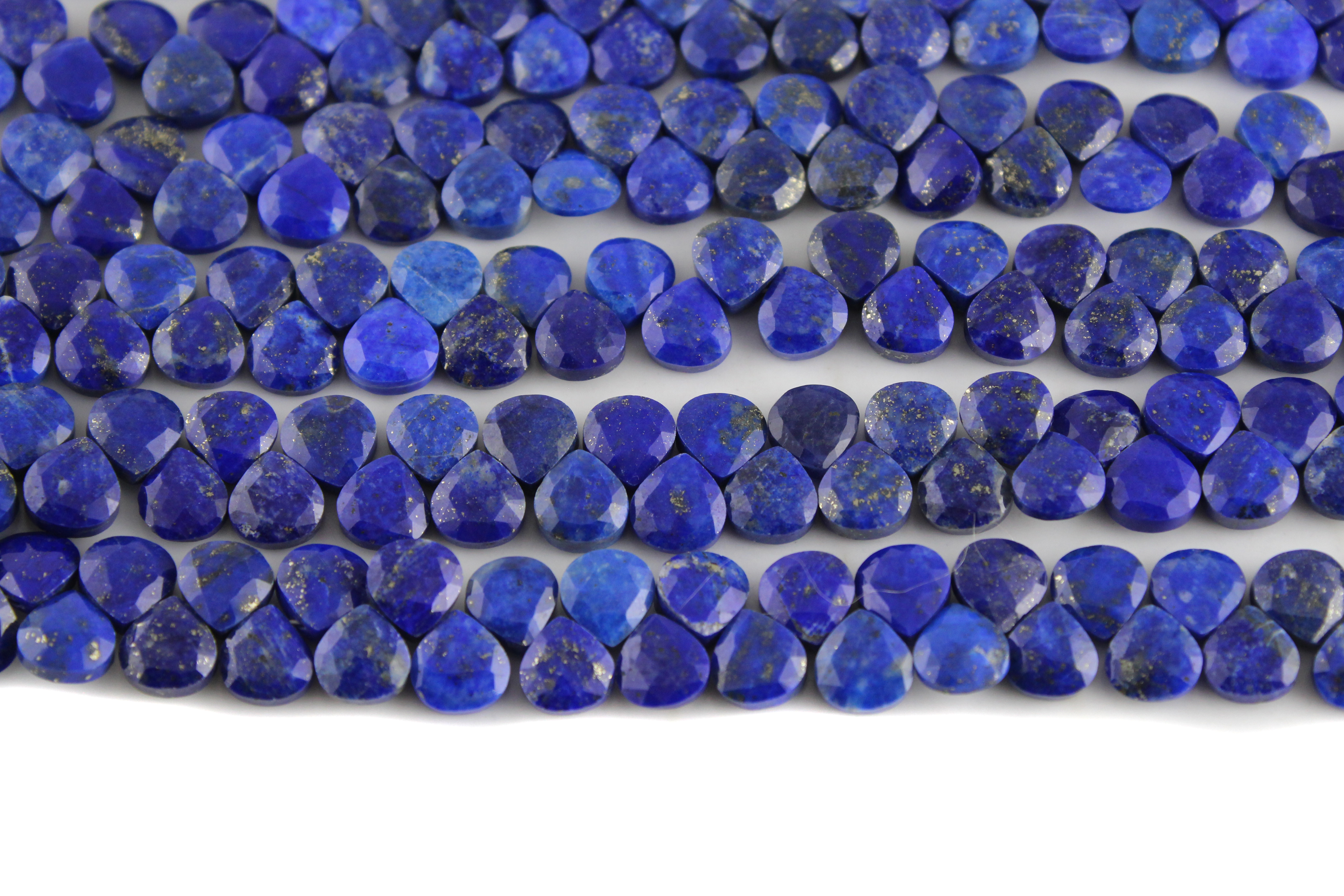 Lapis Lazuli Heart Faceted Beads