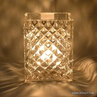 Crystal Cutting Glass Candle Holder