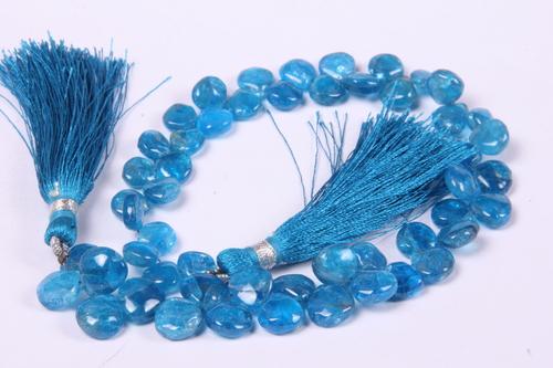 Neon Apatite Heart Beads