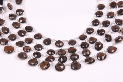 Smoky Quartz Heart Beads