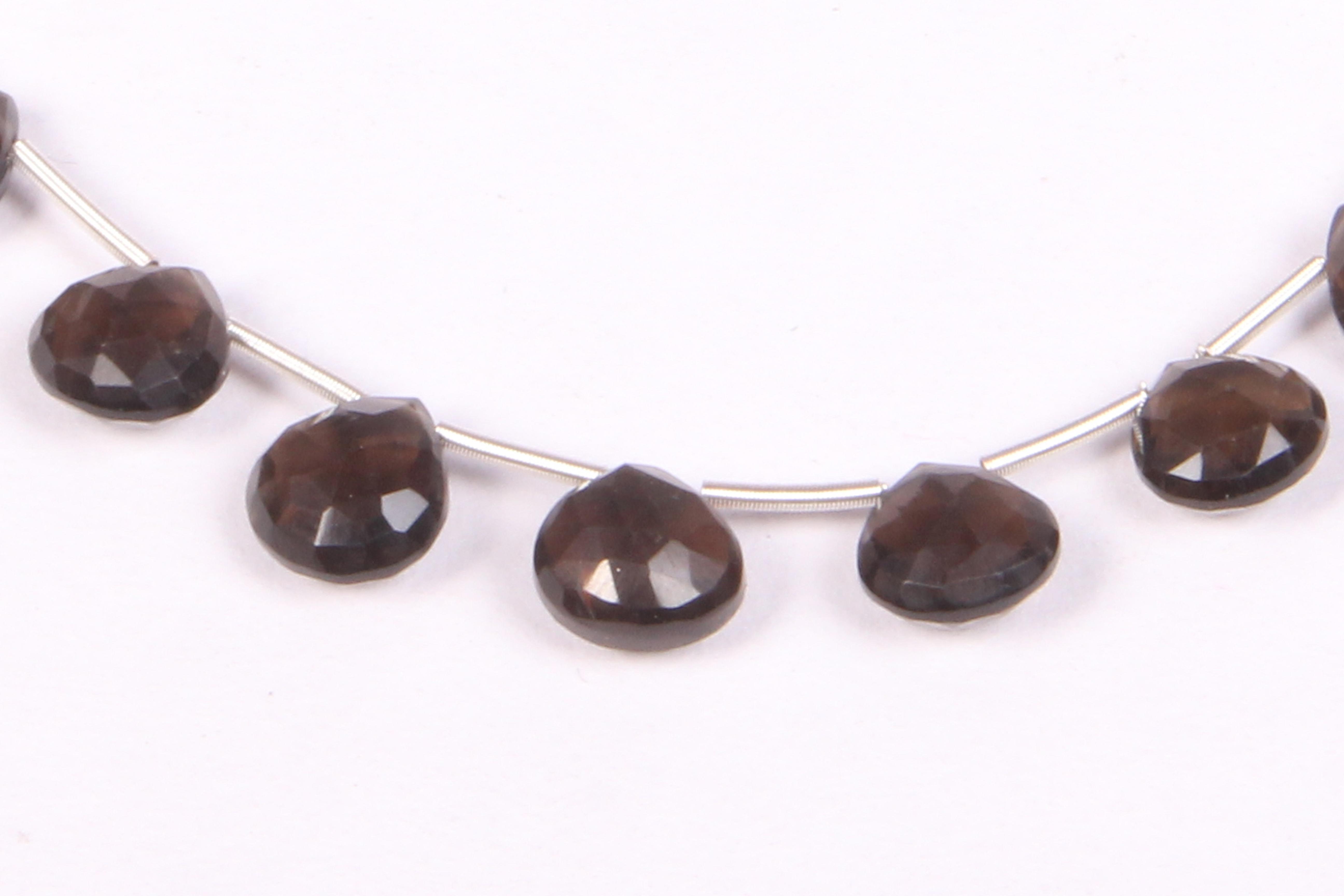 Smoky Quartz Heart Beads