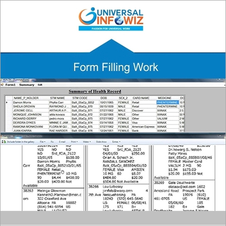 Form Filling Project Outsourcing