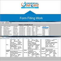 Form Filling Work