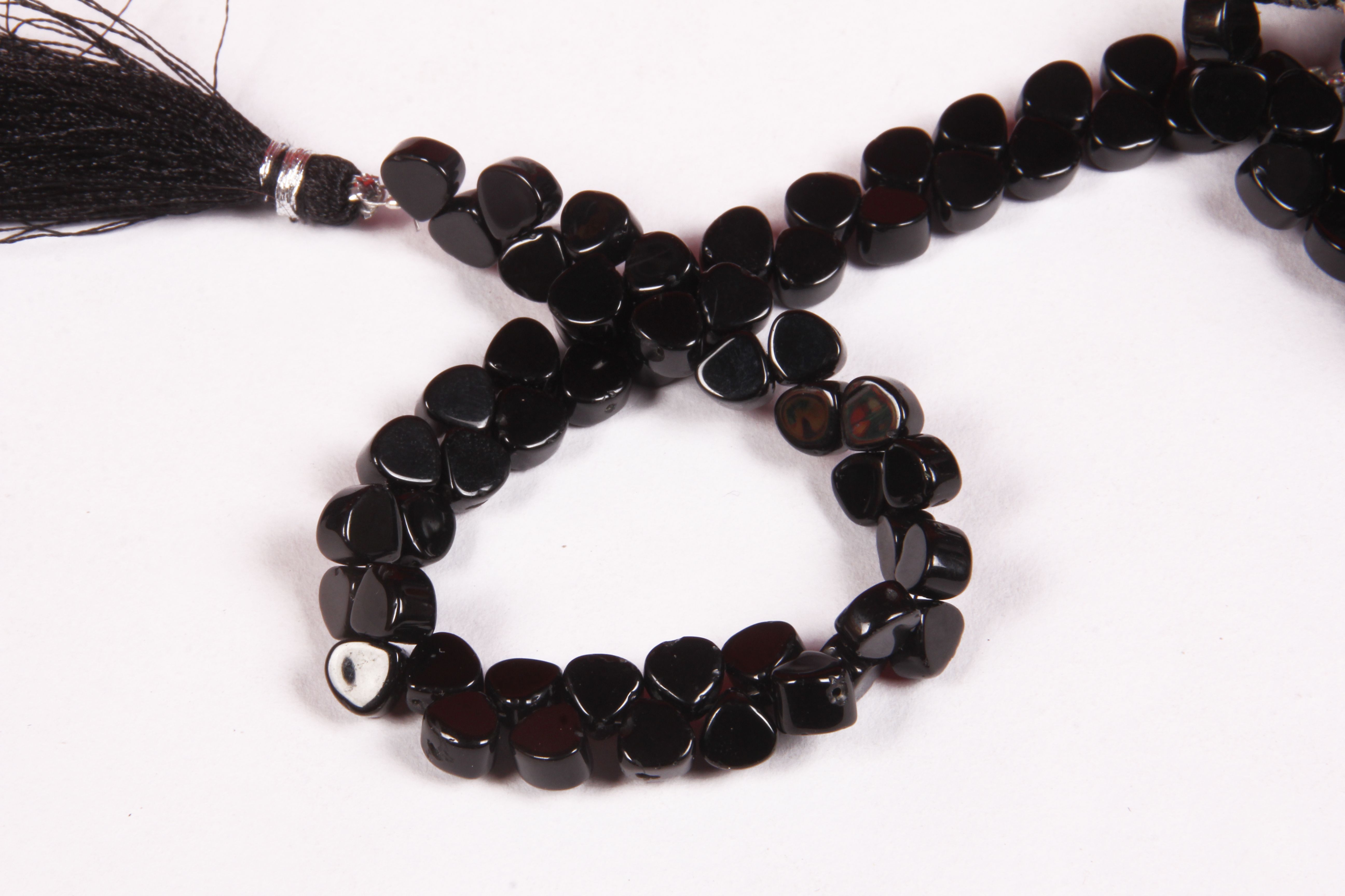 Onyx Smooth Heart Beads
