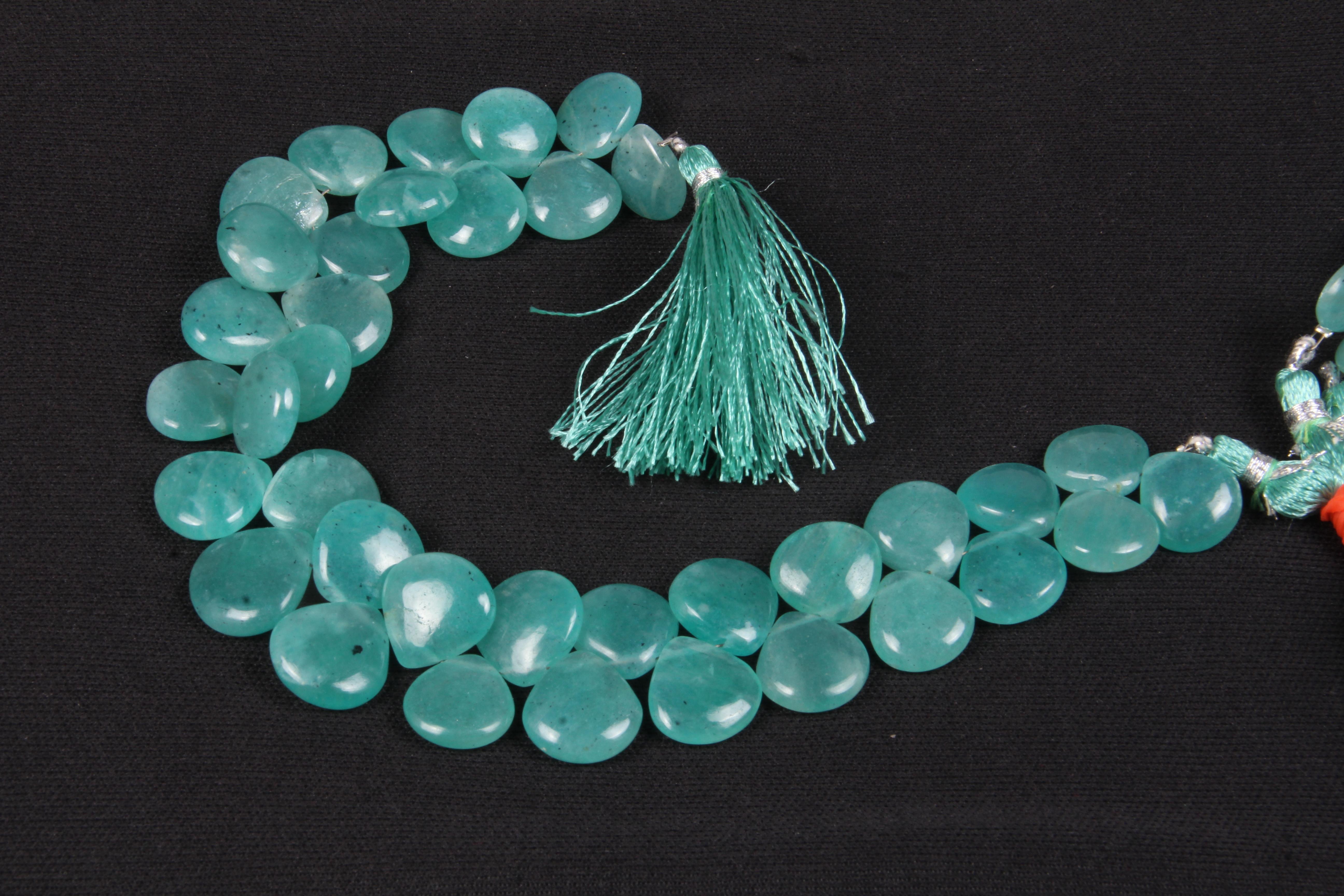 Amazonite Heart Layout Beads
