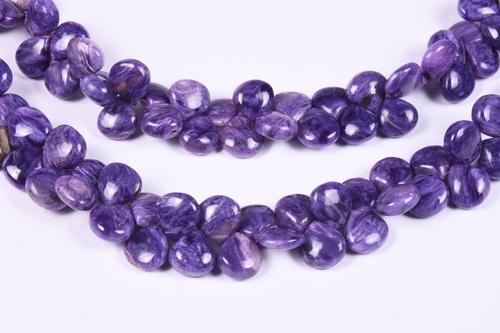 Charoite Heart Beads