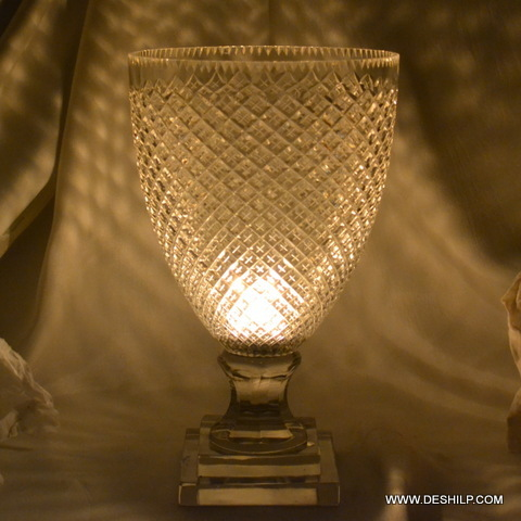 Crystal Glass Hurricane Candle