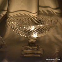 Crystal Cutting Glass Hurricane Candle