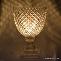Cutting Glass Crystal Hurricane Candle