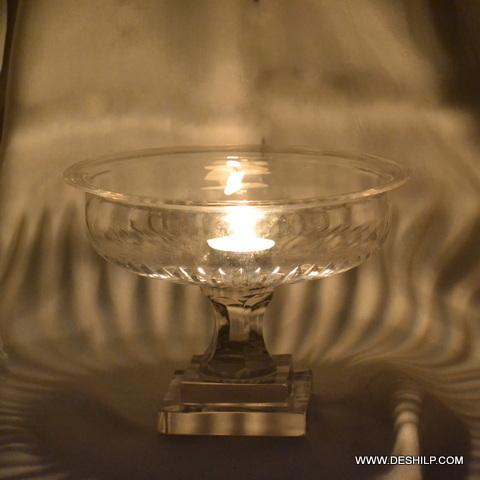Small Pillar Shape Glass Hurricane