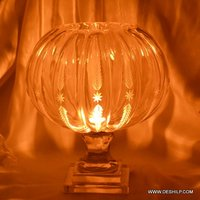 Pumpkin Shape Glass Candle Holder