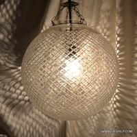 Big Ball Shape Crystal Cut Wall Hanging