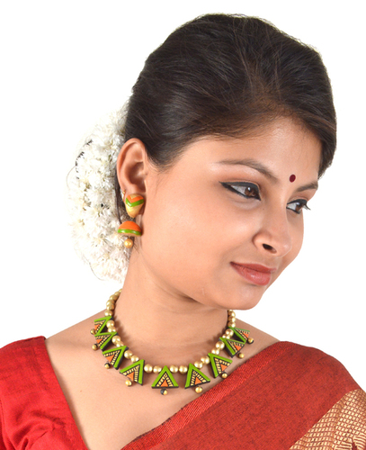 Women's Choker Terracotta Jewellery Sets Latest Design