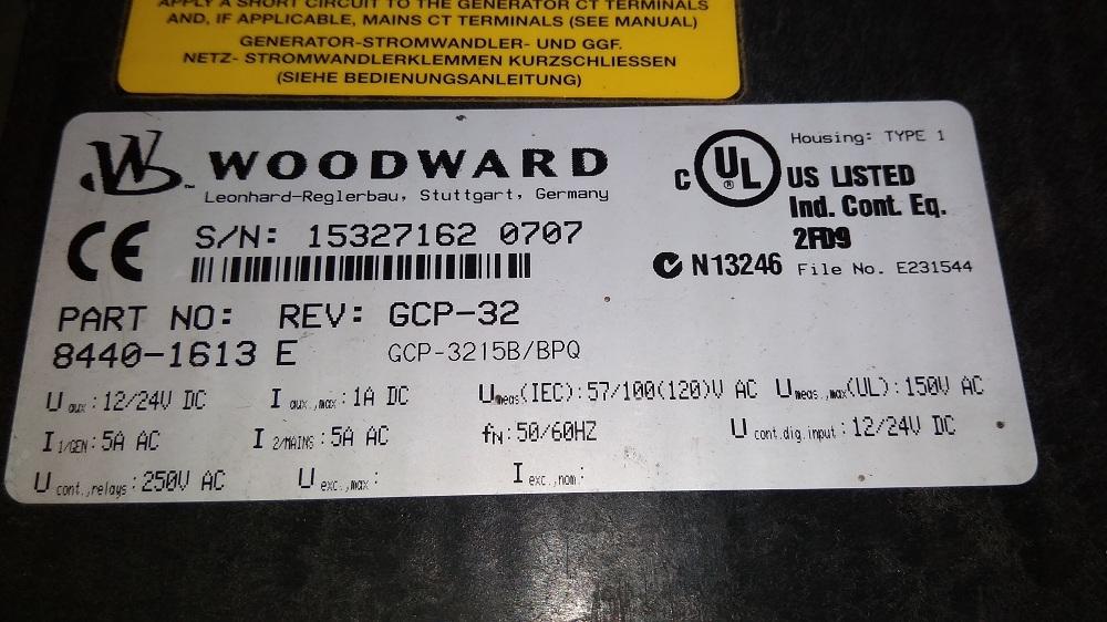 WOODWARD HMI 8440-1613 E