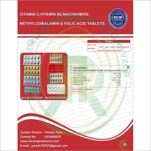 FOLIC ACID & VITAMIN C TABLET FOR MOUTH ULCER