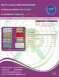 METHYCOBALAMIN , B6 , FOLIC & D3 TABLETS