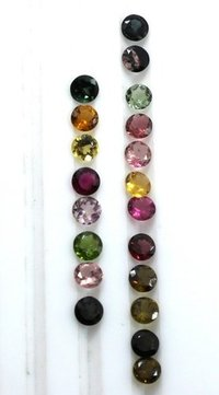 4mm Natural Multi Tourmaline Faceted Round Gemstone Prices