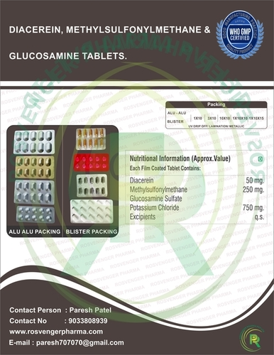 DIACEREIN , MSM & GLUCOSAMINE TABLETS