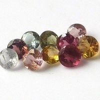 5mm Natural Multi Tourmaline Faceted Round Loose Gemstone