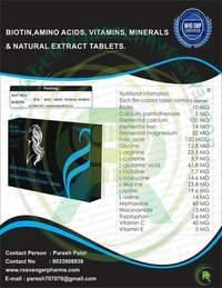 BIOTIN , AMINO ACID & NATURAL EXTRACT TABLETS FOR HAIR FALL CONTROL