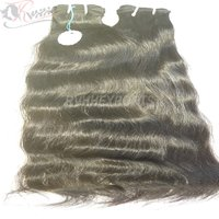 Double Drawn Weft Remy Cuticle Aligned Indian