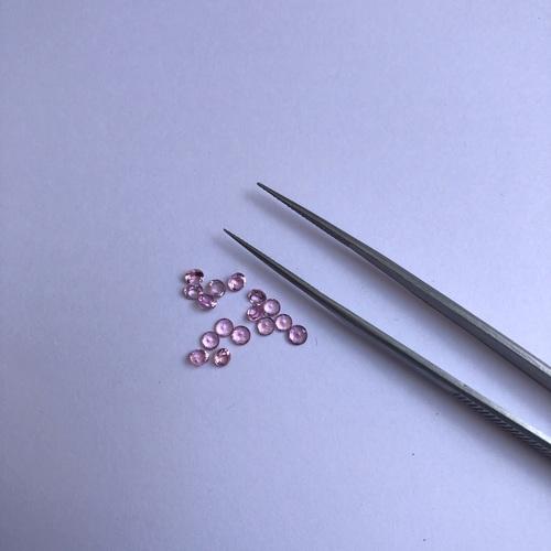 1.5mm Natural Pink Tourmaline Faceted Round Gemstone
