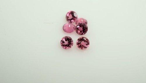 2mm Natural Pink Tourmaline Faceted Round Gemstone