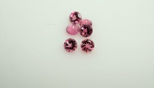 2.5mm Natural Pink Tourmaline Faceted Round Cut Gemstone