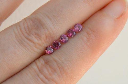 4mm Natural Pink Tourmaline Faceted Round Gemstone