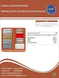 ENZYME CAPSULE WITH PEPSIN , PAPAIN & FUNGAL