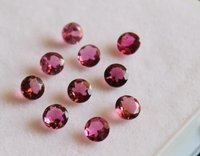 5mm Natural Pink Tourmaline Faceted Round Gemstone